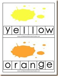 Color words with matching letters - great!