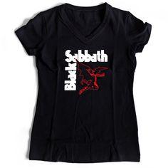 Black Sabbath Flying Devil Women's V-Neck Tee T-Shirt Ceylon Tee, Black Sabbath, Hoodies, Sweatshirts, V Neck Tee, Devil, Topshop, Tank Tops, Tees