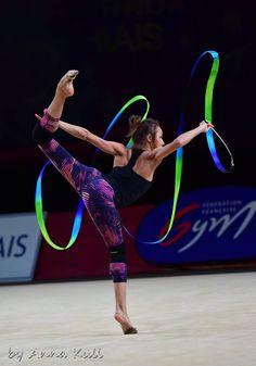 Viktoria MAZUR (Ukraine) ~ Training Ribbon for Grand Prix Thiais ~ 24/03/'17 Anna Kull.