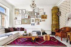 pink tribal rug room - Google Search