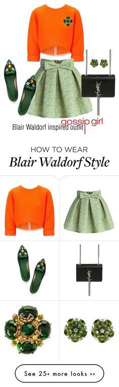 """""""Blair Waldorf inspired outfit/GG"""" by tvdsarahmichele on Polyvore"""