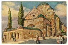 My grandmothers synagogue - Neue Synagoge (New Synagogue) in Essen, Germany. Now the Alte Synagoge (Old Synagogue). I think c. 1929