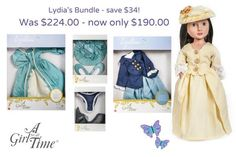 Meet Lydia, your Georgian Girl - we've included her and all of her finery in our special Christmas bundle - limited time only! Baby Girl Dolls, Girls Time, Costume Collection, Beautiful Costumes, Easter Activities, New Dolls, New Girl, Georgian, Special Gifts