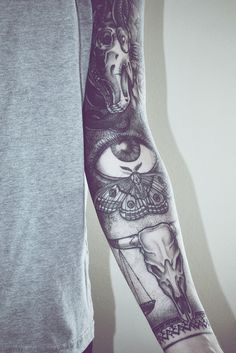 Black sleeve tattoo