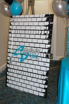 Graffiti Wall Sign in Board Graffiti Wall Bar Mitzvah Sign in Board Skateboard Party, Homecoming Decorations, Hip Hop Party, Boy Birthday, Baseball Birthday, Baseball Party, Dance Themes, Skate Party, Quinceanera Party