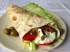 Görög csirkés wrap, recept