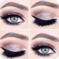 Winter Eye Makeup Trends 2019 # eyes - incredible me - Make up Pink Eye Makeup, Prom Makeup, Skin Makeup, Bridesmaid Makeup, Makeup Brushes, Orange Makeup, Neutral Makeup, Homecoming Makeup, Cat Makeup