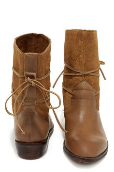 Latigo Pogo Cognac Leather Flat Mid-Calf Boots at Lulus.com!