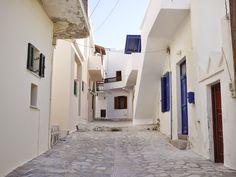 The white houses of Naxos, Greece