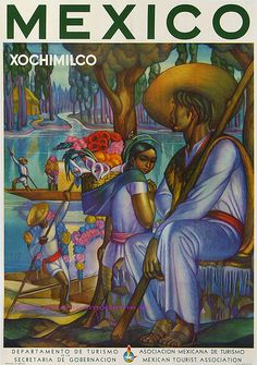 MEXICO XOCHIMILCO 92X68 print Mexico
