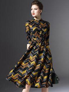 Doresuwe.com SUPPLIES レディースファッション5分袖丈膝丈ワンピース デートワンピース (6)