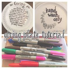 Picklehead Soup: Let them MAKE PLATES!  How to make a GIVING plate!