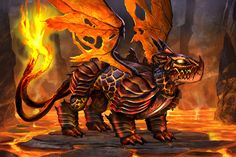 Dragons of Atlantis - Adult Fire Dragon with Armor