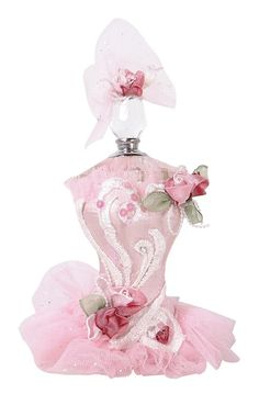 Vintage Beautiful Pink Tutu Perfume Bottle, oh, how I would love to have this one! Perfume Atomizer, Antique Perfume Bottles, Vintage Bottles, Italian Perfumes, Perfumes Vintage, Pink Perfume, Beautiful Perfume, Chic Perfume, Parfum Rose