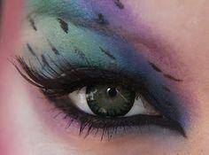 Peacock eye make up tutoral