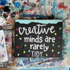 Creative minds! Like confetti Hey, I found this really awesome Etsy listing at https://www.etsy.com/listing/221775618/creative-minds-confetti-sign