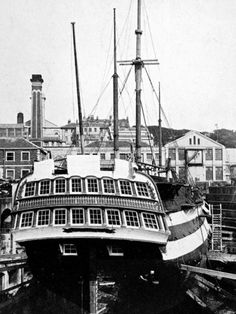 HMS 'Implacable' at Devonport, 1926.  She survived the Battle of Trafalgar only for the British to capture her at the subsequent Battle of Cape Ortegal. In British service she participated in the capture of the Imperial Russian Navy 74-gun ship of the line Vsevolod (Russian: Всеволод) in the Baltic in 1808 during the Anglo-Russian War. Later, Implacable became a training ship. Eventually, she became the second oldest ship in the Royal Navy after HMS Victory, Lord Nelson's flagship at…