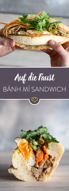 Wenn es ein perfektes Sandwich gibt, dann ist es auf jeden Fall vietnamesisch. Das Bánh mì vereint die leckersten Zutaten zum besten Fingerfood überhaupt!
