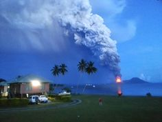 8/29/2014: Mt Tavurvur erupting in eastern Papua New Guinea, spewing rocks/ ash into the air, forcing the evacuation of local communities & international flights to be rerouted. Joyce Lessimanuaja--APF / Getty Images
