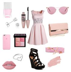 """""""Brianna"""" by alpha-angel98 on Polyvore featuring Chinese Laundry, New Look, Oliver Peoples, Amanda Rose Collection, Jordan Askill, Givenchy, Maybelline, Lime Crime, Jane Iredale and Nails Inc."""
