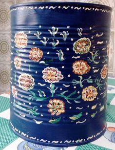 #Reutilizar #latas de #conservas para hacer #jarrones pintados  #HOWTO #DIY #ecología #reducir #reciclar