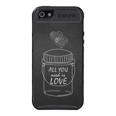 Chalkboard and mason Jar All You need is Love iPhone 5 Cover