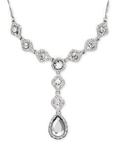 Charter Club Necklace, Crystal Y Drop - Fashion Jewelry - Jewelry & Watches - Macy's $48