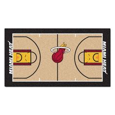 Miami Heat Basketball Court Runner Rug