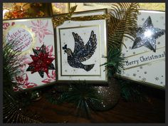 Make a WOW card with Stampin' UP! products of Crystal Effects, Stampin' Glitter and Window Sheets. Click to learn more!