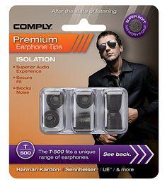 Comply premium earphone tips - automatic retractable earphone holder
