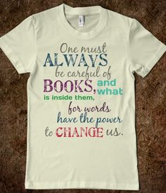 Tessa Gray Quote (colorful) I would definitely wear this