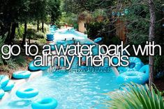 Go to a waterpark with all my friends