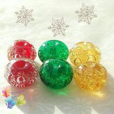 Lampwork Beads Christmas Bubble Beads by GlitteringprizeGlass for jewellery…