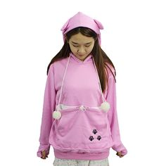 Japanese Style Pullover Big Kangaroo Pouch for Small Cat Dog Pet Hoodie Sweater at Amazon Women's Clothing store:
