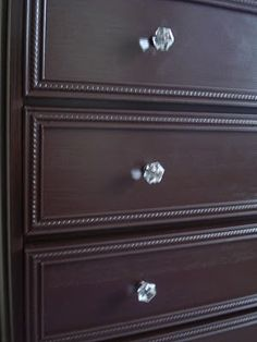 molding added to laminate dresser, then painted