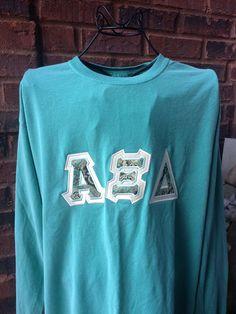 Comfort Colors Sorority Letter Shirt - Alpha Xi Delta, Chia Omega, Kappa Delta…