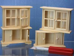 How to make a dolls house scale fireplace from an inexpensive kitchen hutch