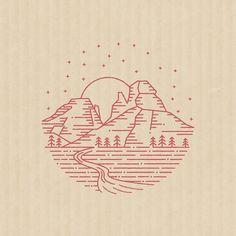 """639 次赞、 18 条评论 - Brian Steely (@briansteely) 在 Instagram 发布:""""Made this little stamp for Indian Gardens. I really like how the mark works with no lettering."""""""