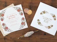 Magnolia Rouge: Woodstock Invitations by Ruby and Willow #weddinginvitations #weddingstationery #invitations