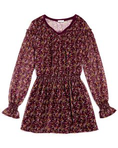 Splendid Girls' Floral Crinkle Chiffon Dress - Sizes 7-14