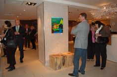 """The first ever VEEN Art exhibition Recycled Masterpieces and 15 Minute Originals"""" held in Helsinki 21.5.2008 at hotel Klaus K and Launch."""