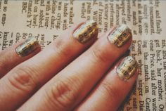 Gold newspaper nails