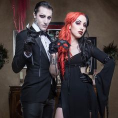 Ash and Chris Motionless. They'd make a great Gomez and Morticia Addams! xD