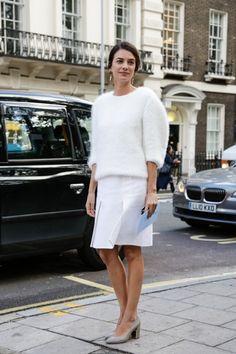 Leila Yavari perfect white on white