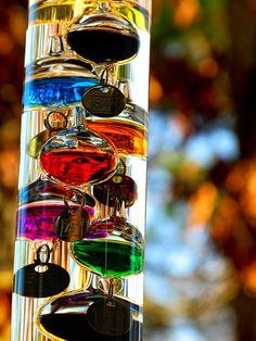 Galileo thermometer for adding colour yet not taking away from its usefullness    from flickr.com/jhandelman