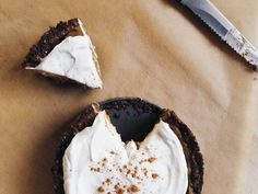 Raw Black Bottom Pumpkin Pies with Whipped Coconut Cream