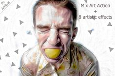 Mix Art - Ps Action by ArtPlanet on Creative Market