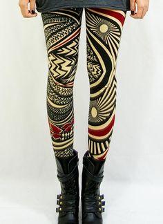 Multi Leggings/Tights - Back stage [Leggings,Tights,Bottoms,Pants]   UsTrendy