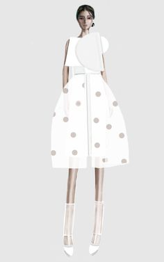 Fashion illustration - fashion design sketch // Stefania Belmonte