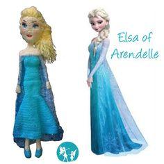 Crochet Elsa of Arendelle (50cm height, cotton yarn) #crochetelsa #elsacrochetdoll #elsa #elsadoll #elsaofarendelle #crochet…